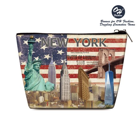 OH Fashion Women's Cosmetic Bag New York to storage make up , beauty organizer , brushes , manicure pedicure , for handbag 1 - Halloween Store New York
