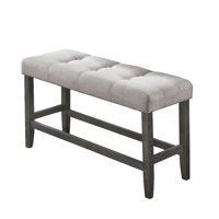 Best Quality Furniture Counter Height Bench with Beige Linen Fabric Cushing