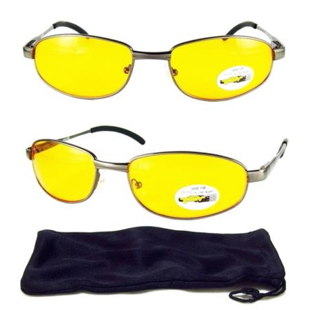 6c0c29efe5 Gallop - Yellow Lens Night Vision Driving HD Safety Glasses High Definition  UV Sunglasses - Walmart.com