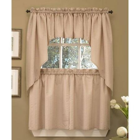 Seersucker kitchen curtain - Kitchen curtains walmart ...