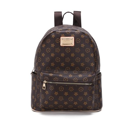 RICHPORTS Checkered Backpack bag - Luxury PU Vegan Leather