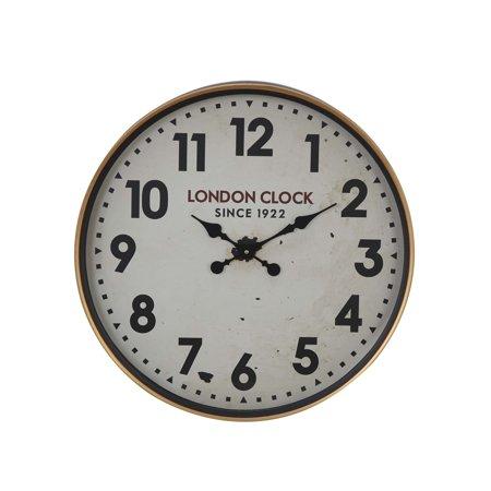 The Gray Barn  Jartop 23-inch Contemporary Iron London-Inspired Round Wall Clock ()
