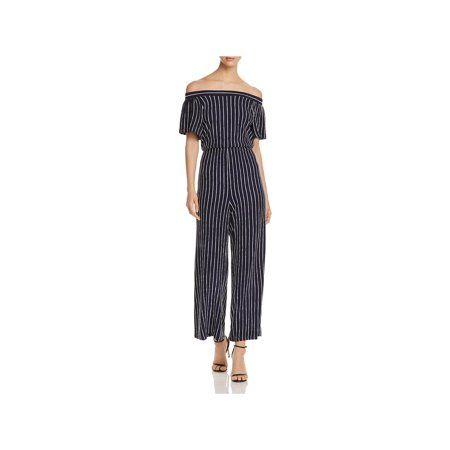 Allen Schwartz Womens Off-The-Shoulder Striped Jumpsuit