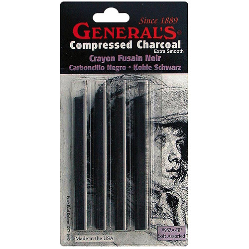 Compressed Charcoal Sticks, 4pk