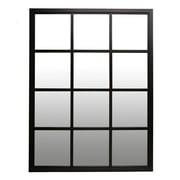 "Classic Black Windowpane Mirror 23""x30"" by Patton Wall Decor"