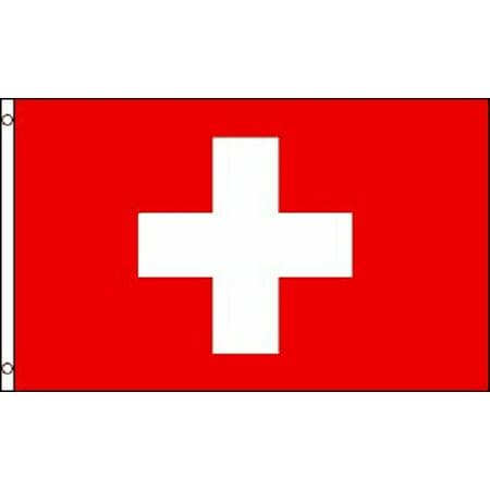 2x3 Switzerland Flag Swiss Banner Country Pennant Indoor Outdoor 24x36 inch