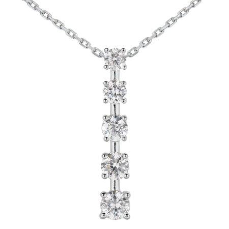 1/2 Carat TW Diamond Journey Pendant in 14K White Gold