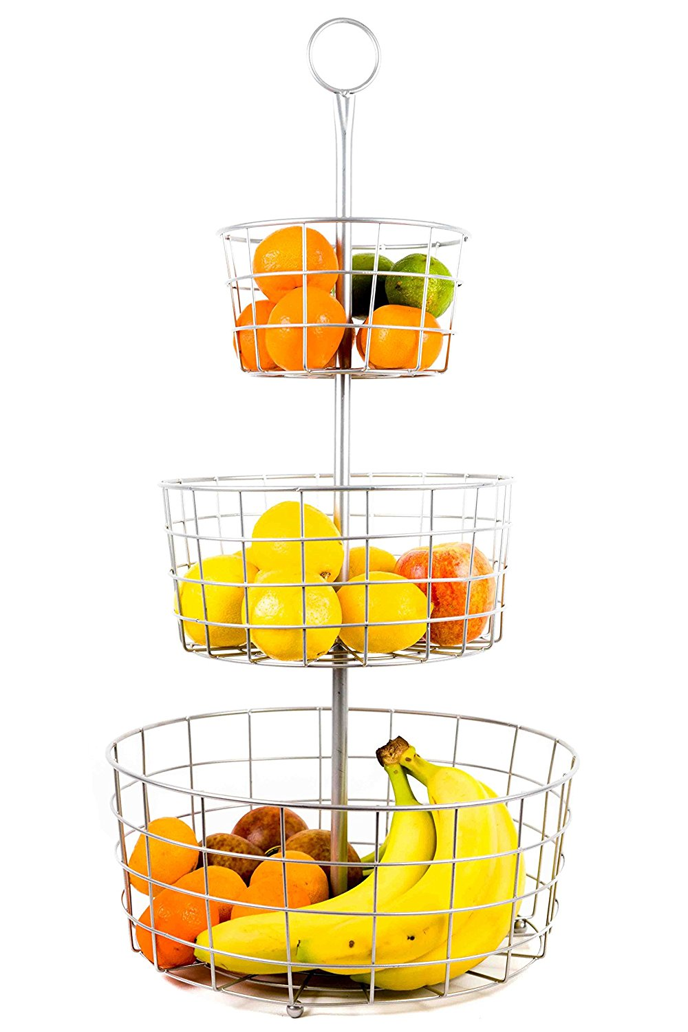 Useful UH-FB205 3 Tier Decorative Wire Fruit Basket Countertop Stand ...