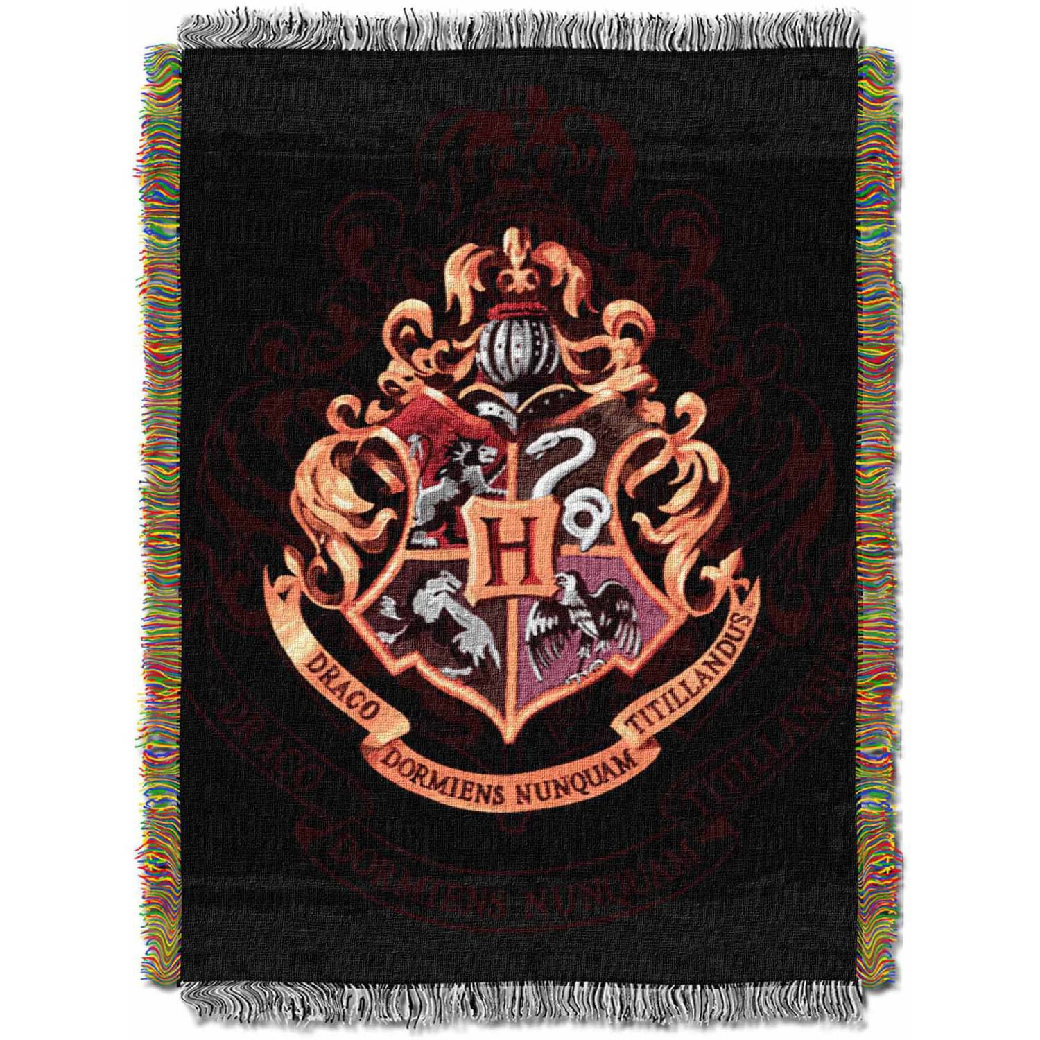 "Warner Bros. Harry Potter ""Hogwarts"" 48"" x 60"" Metallic Woven Tapestry Throw"