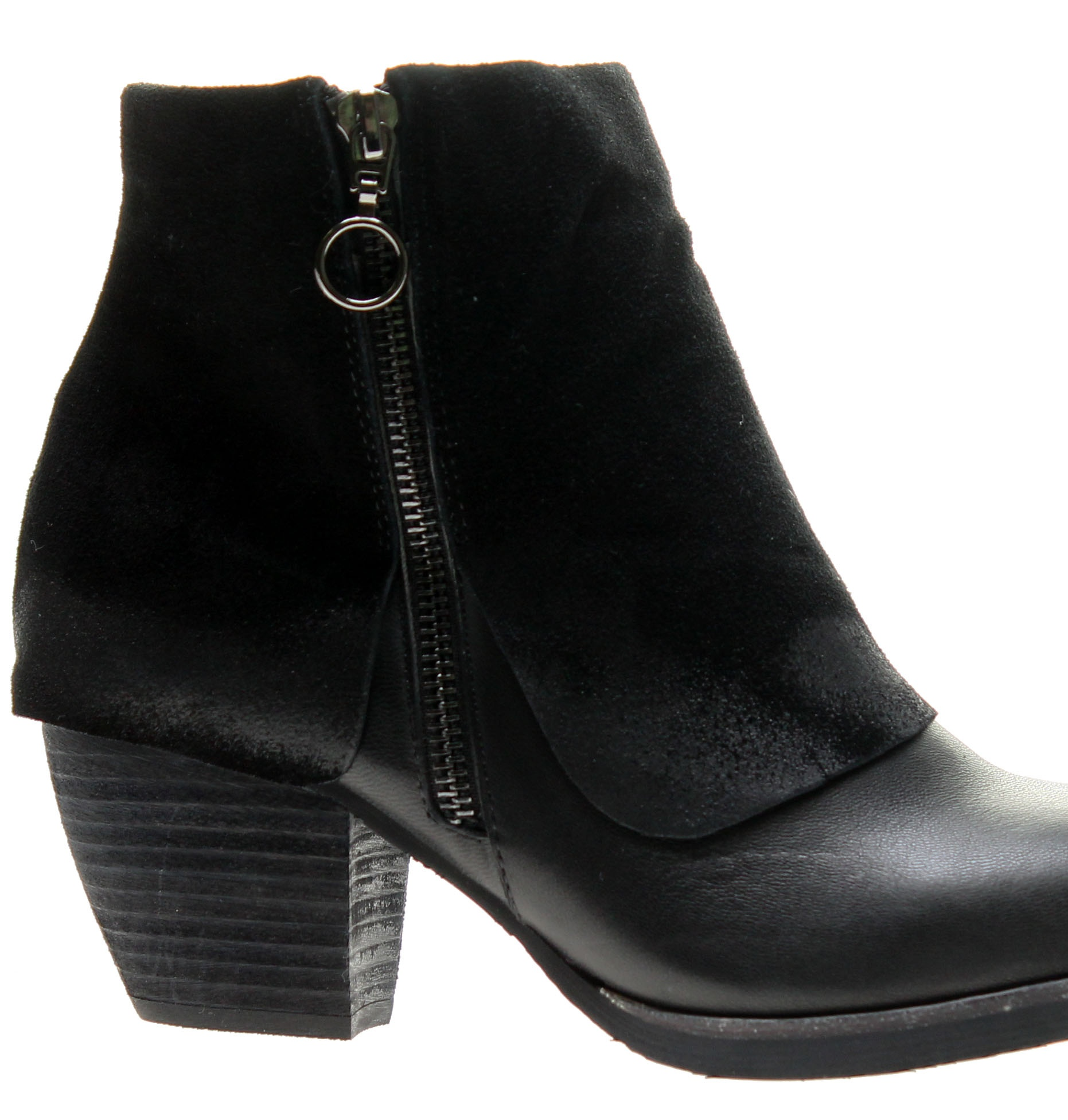 Antelope 654 Ankle Booties Black Women's Boots 654-Black