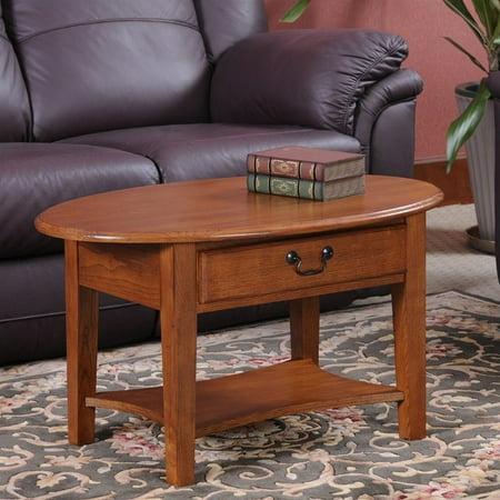 Leick Furniture Shaker Oval Coffee Table In Medium Oak Walmart Canada