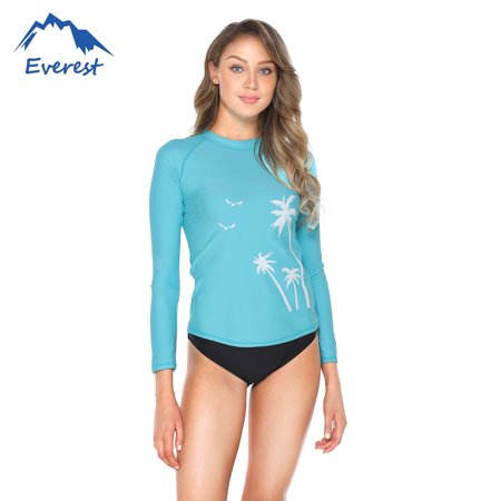 Women's  Long Sleeve UV Protection Print Surfing Swimsuit Swimwear Bathing Suits Athletic Tops