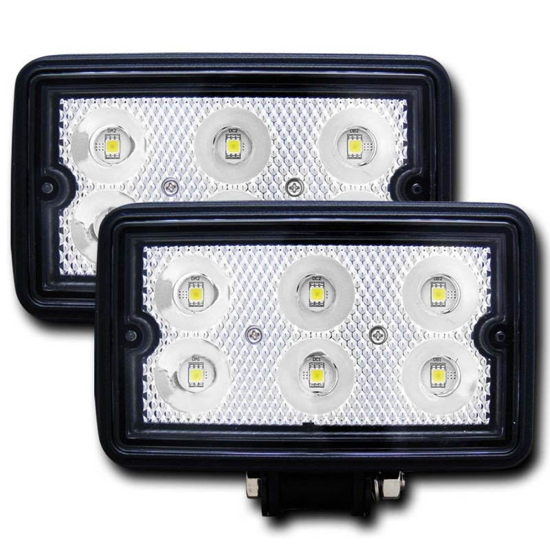 ANZO USA 881001 STEALTH VISION 3x5IN HIGH POWER LED FOG LIGHT, BLACK CASE, 420 LUMENS, 3500 CANDLEPOWER, 11.75 WATTS