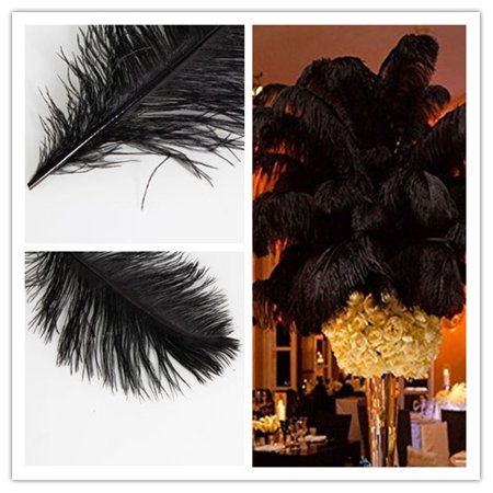 UBesGoo High Quality Fashion Decorative Party Ostrich Feathers 10PCS 30-35cm (Party Feather)
