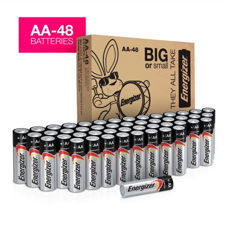 (Energizer Max Powerseal Alkaline AA Batteries, 48 Pack)