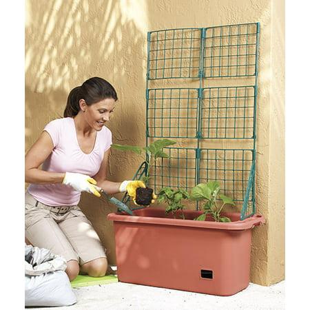 Mobile Garden Vegetable Patch Planter Pot & Trellis Climbing Vine Patio Tomato Veggies Herbs ()