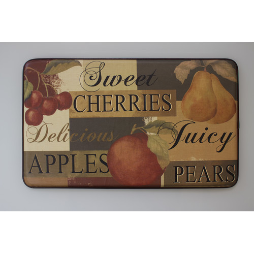 Chef Gear Scrumptious Fruit Faux Leather Anti-Fatigue Cushioned Chef Mat