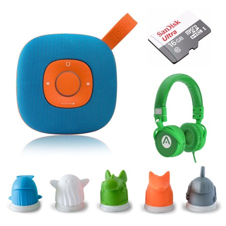 Jooki WIFI Streaming Speaker - Simply the Best Music Player for Kids Screen-Free Music & Stories with ToyTouch Technology, A7 Headphones and 16GB microSD - Halloween Music For Kids Stream