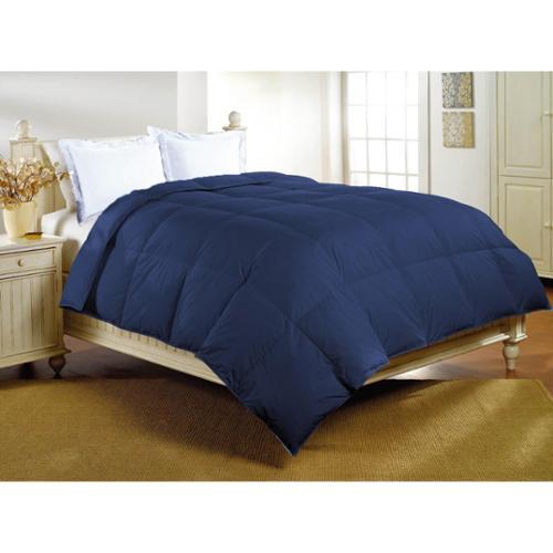 Luxlen 233 Thread Count Cotton Down Alternative Comforter King, Black