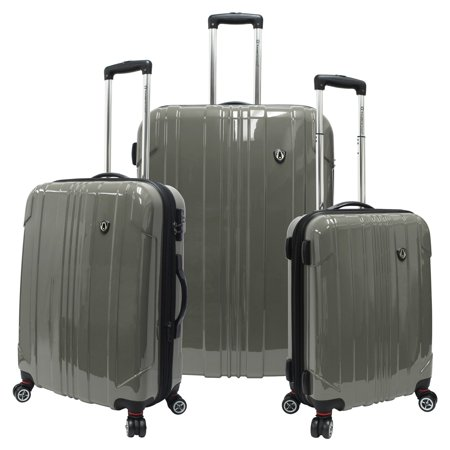Travelers Choice Sedona 3 Piece Lightweight Expandable Spinner Luggage Set