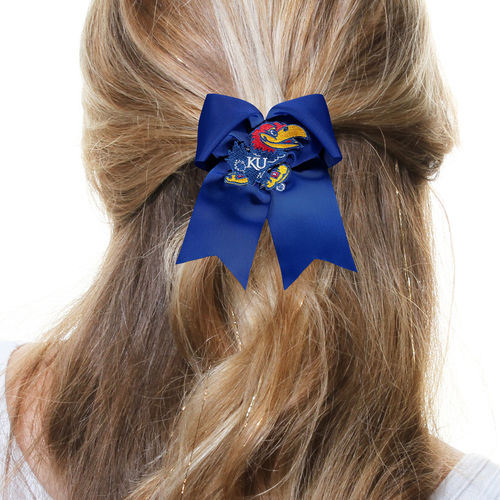 Women's  Kansas Jayhawks Essentials Large Cheer Bow