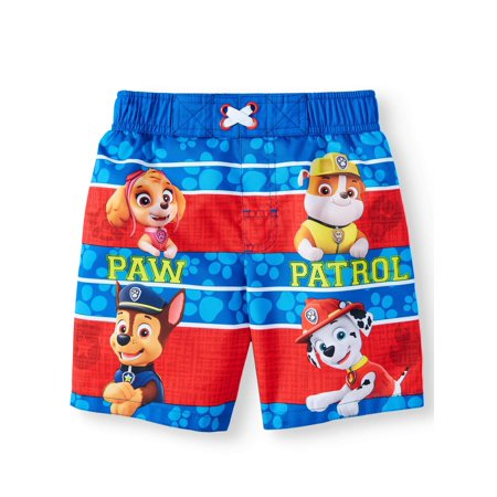 7829d15942783 PAW Patrol Toddler Boys' Swim Trunks With Skye, Rubble, Chase & Marshall -