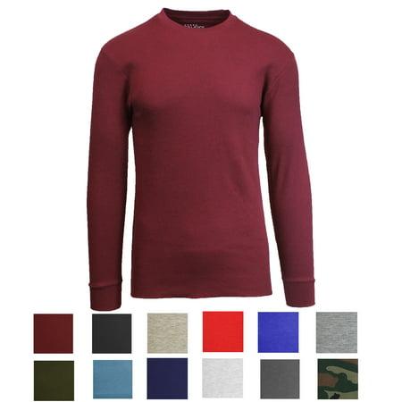 Mens Long Sleeve Crew Neck Thermal Shirts ()