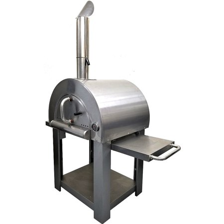 Western Pacific Pizza Oven Outdoor Artisan BBQ Wood-Fired Stone Bake 31 Inch W Commercial Stainless Steel - Cooking Accessories - Cover - Model SYM01 ()