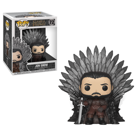 - Funko POP! Deluxe: GOT S10 - Jon Snow Sitting on Iron Throne