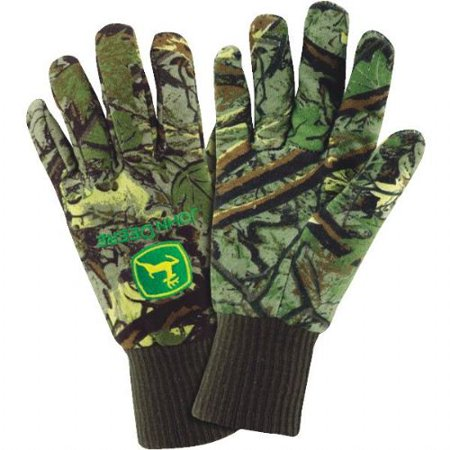 LINED CAMO JERSEY GLOVE JD90001/L Camouflage Thermal Lined Zipper