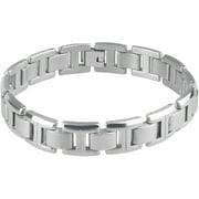 "Daxx Men's Titanium Link Fashion Bracelet, 9"""