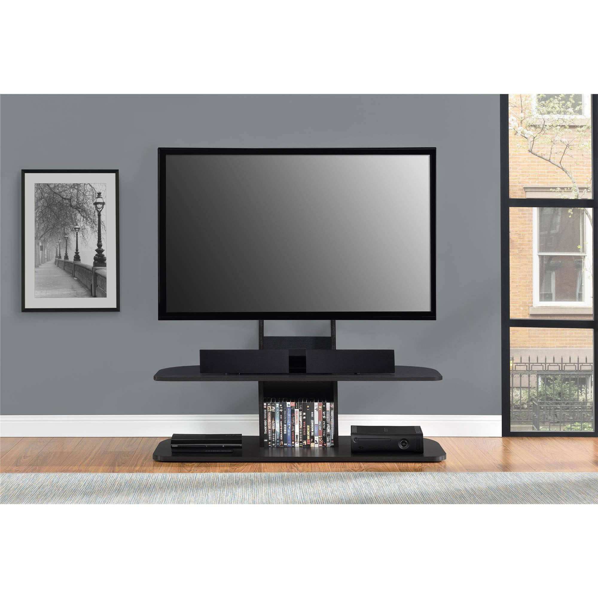Tv Tables Big Tv Stand: Ameriwood Home Galaxy TV Stand With Mount For TVs Up To 65