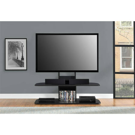 "Ameriwood Home Galaxy TV Stand with Mount for TVs up to 65"" Wide, Black"