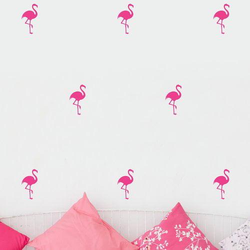 Urban Walls Flamingos Wall Decal (Set of 48)