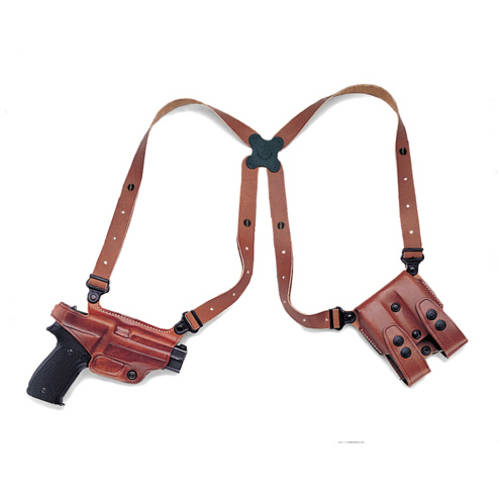 Galco Miami Classic Shoulder Holster, Fits Beretta 92F, Right Hand, Tan Leather by Galco