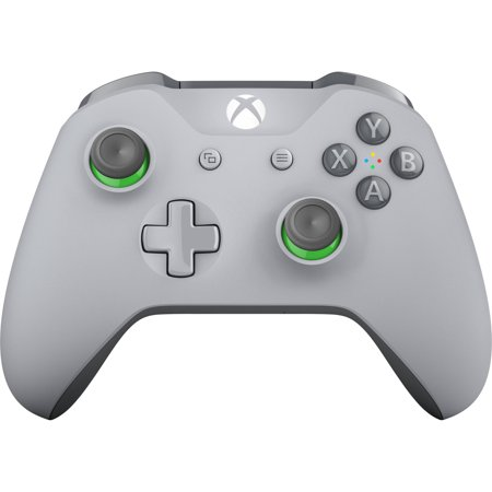 Microsoft Xbox One Wireless Controller (Gray/Green) (Xbox 360 Gray Controller)