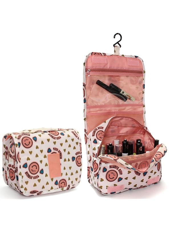 Travel Toiletry Wash Cosmetic Bag,Makeup Storage Case,Hanging Organizer Bag,Travel Cosmetic Makeup Toiletry Case Carry Tote Wash Organizer Storage Pouch Hanging Bag