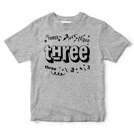 Sprinkles And Jam Three Confetti Style Boys 2nd Birthday Boy Shirt Slim Fit Tshirt