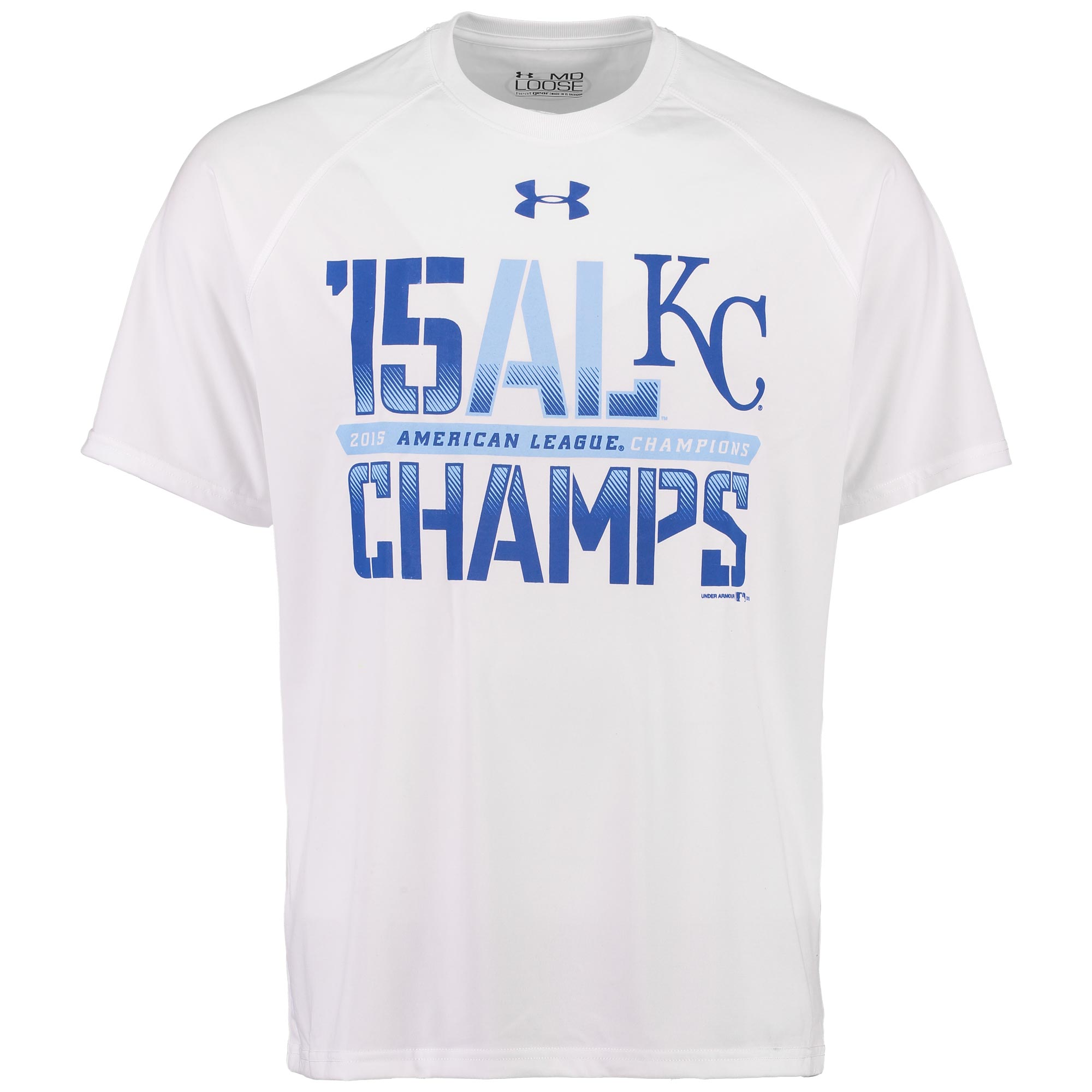 Kansas City Royals Under Armour 2015 American League Champions Performance T-Shirt - White