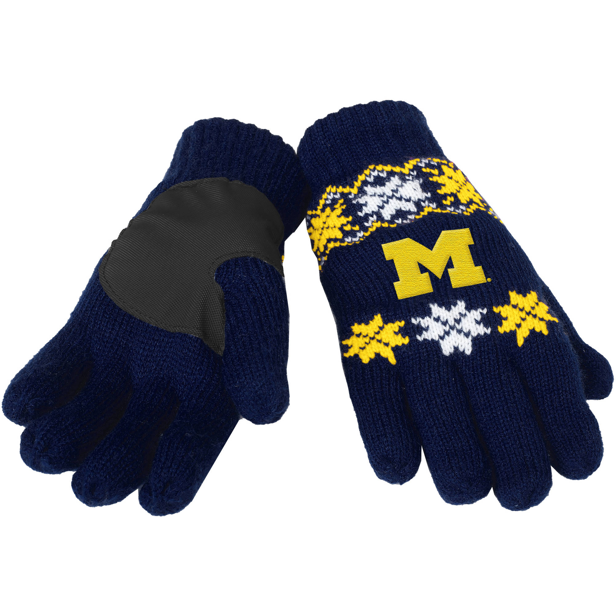 Forever Collectibles - NCAA Lodge Gloves, University of Michigan Wolverines