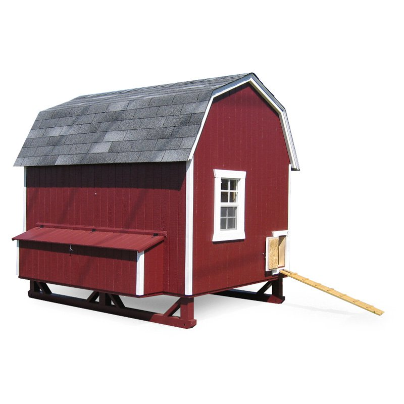Little Cottage Unpainted Gambrel Barn Chicken Coop - Large 6 x 8 ft. - Walmart.com