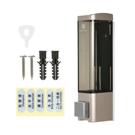 CHUANGDIAN 180ml Wall-mounted Single Bottle Manual Soap Dispenser Shampoo Box Soap Dispenser & Holder Toilet Hand Washing Liquid Shampoo Shower Gel Dispenser - image 7 de 7