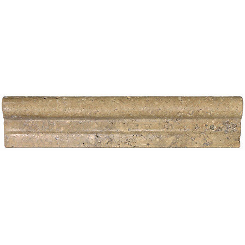 Shaw Floors Tumbled Marble Chair Rail Tile Trim in Noce