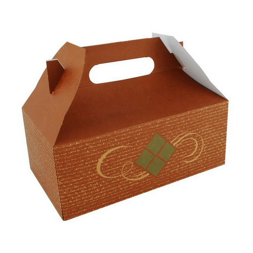 "Southern Champion Hearthstone Small Carry Out Barn Box, 8.875"" Length x 5"" Width x 3.5"" Depth, Clay Coated Kraft"