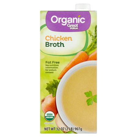 (6 Pack) Great Value Organic Chicken Broth, 32 oz