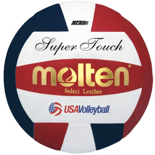 Molten Super Touch Volleyball, Red/White/Blue