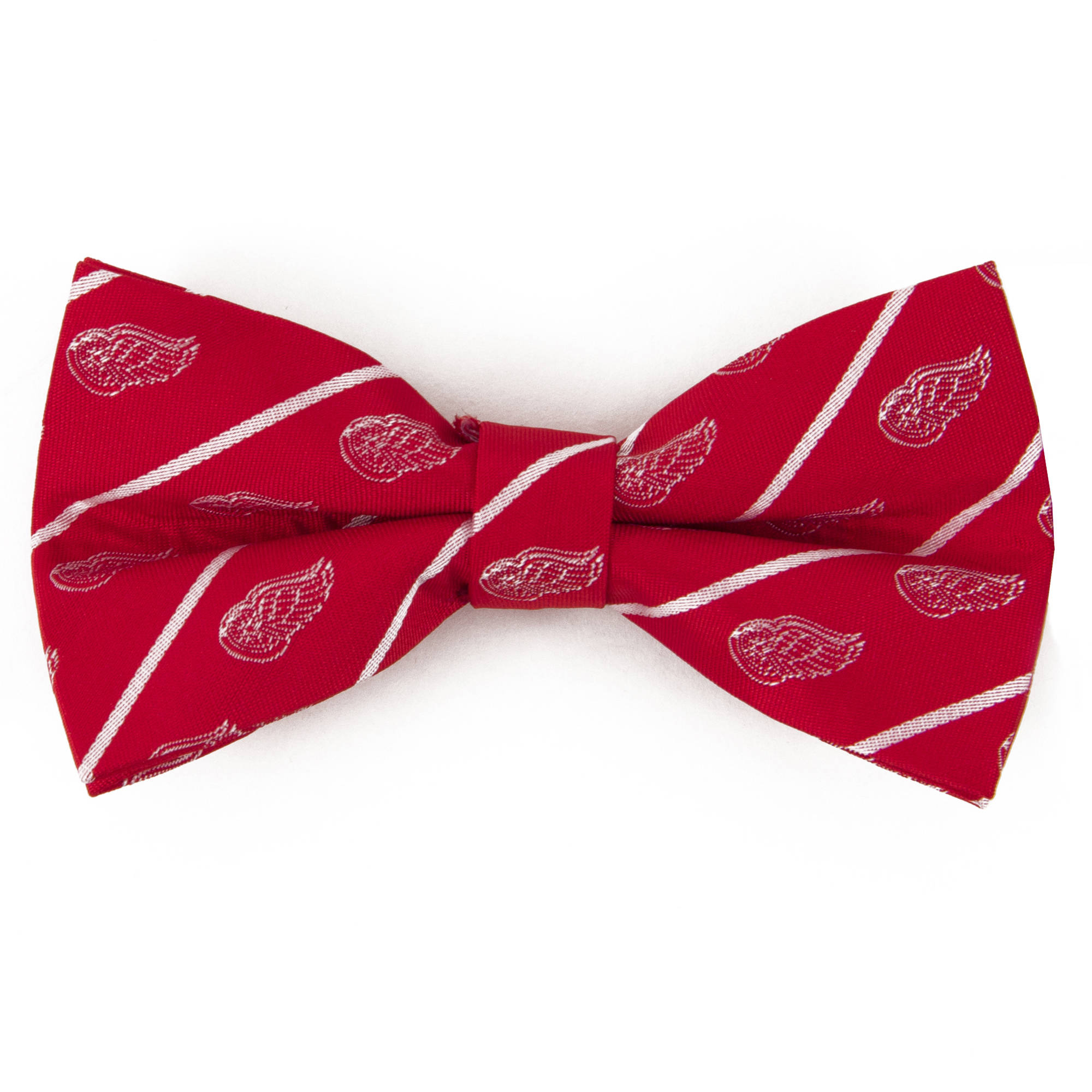 Red Wings Stripe Bow Tie