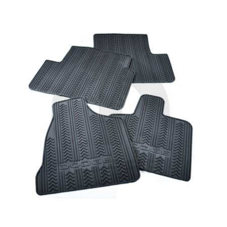 Mopar 82213297 1st and 2nd Row Slush Style Floor Mats Dodge Caravan C/V Tradesman Black W/ Stow n Go