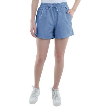 Summer Women Girl Juniors Shorts Chambray Four-Pocket Drawstring Walking Hot