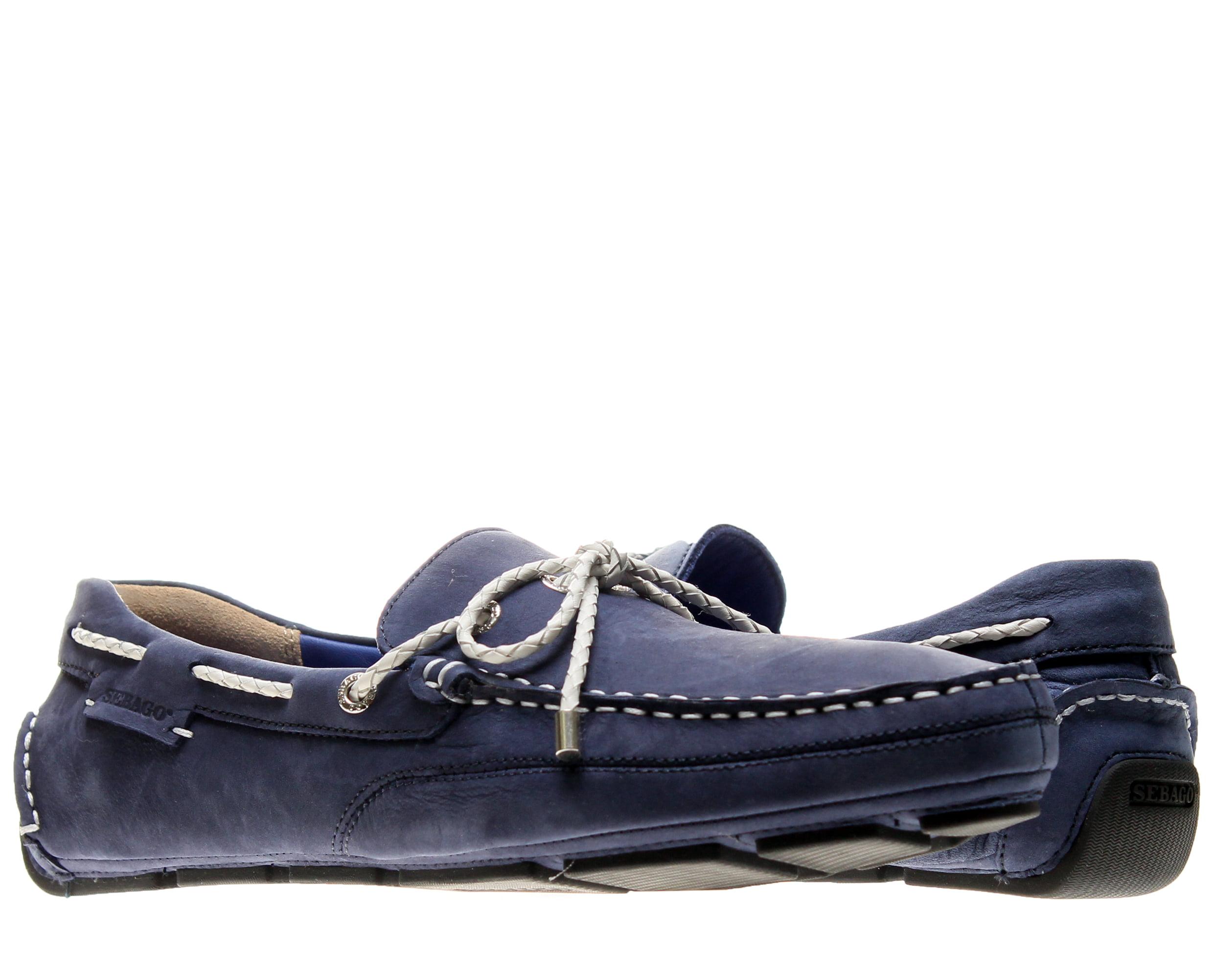 Sebago Kedge Tie Navy Nubuck Men's Boat Shoes B810108 by Sebago